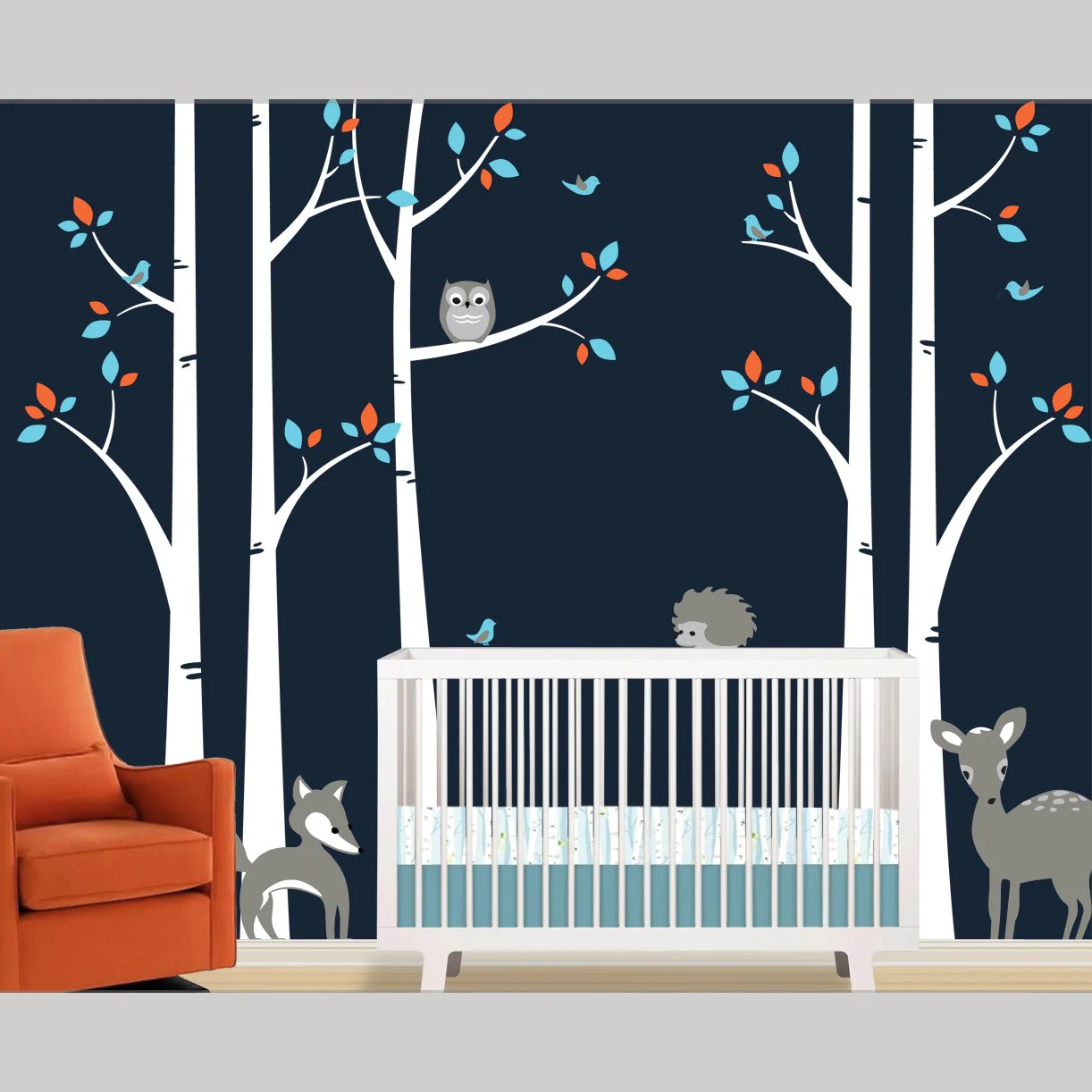 Fullsize Of Birch Tree Wall Decal