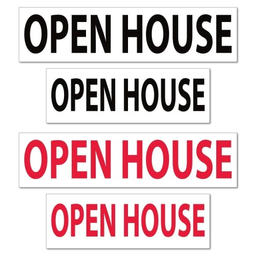 Medium Of Open House Sign