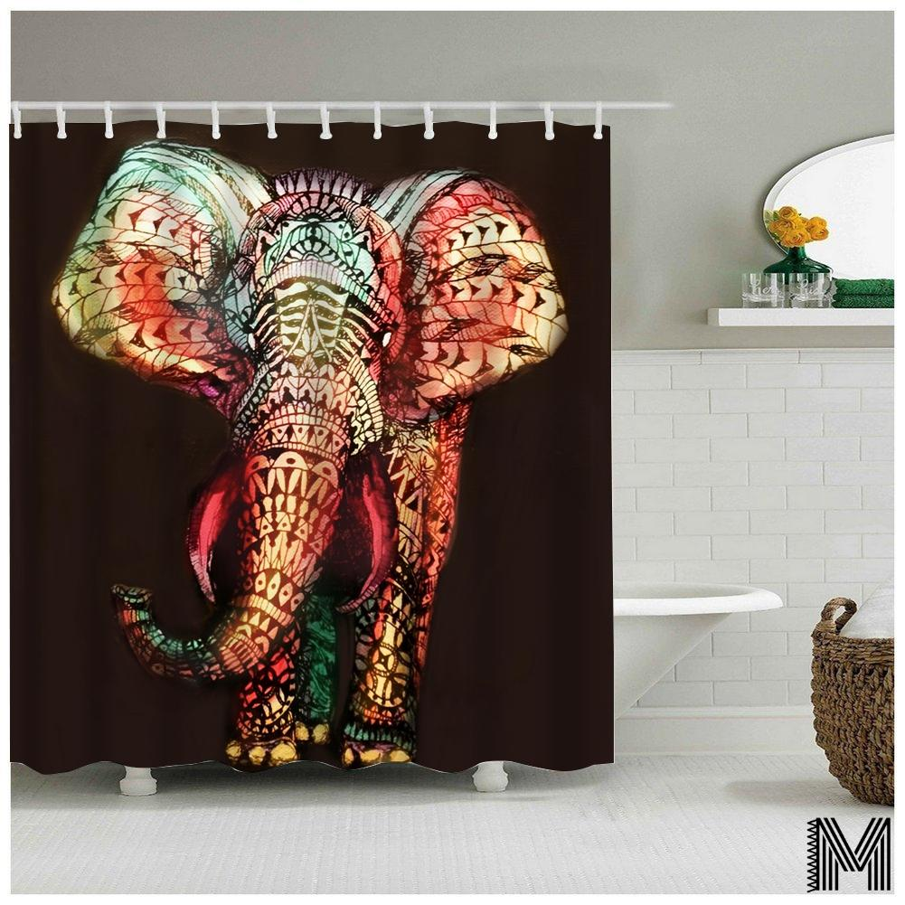Gray Colorful Elephant Shower Curtain Colorful Elephant Shower Curtain Melanin Inc Elephant Shower Curtain Target Elephant Shower Curtain World Market baby Elephant Shower Curtain
