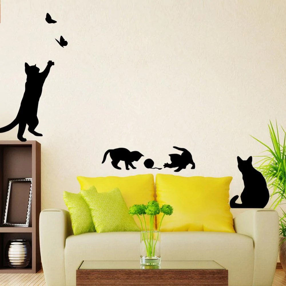 Luxurious Kids Room Wallstickersforkids Catslovers Cats Playing Wall Stickers Kids Room Decoration Cats Playing Wall Stickers Kids Room Decoration Catslovers Wall Stickers baby Wall Stickers For Kids