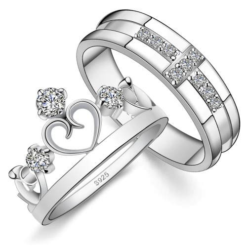 Medium Of Couples Promise Rings