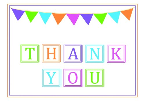 Medium Of Thank You Banner