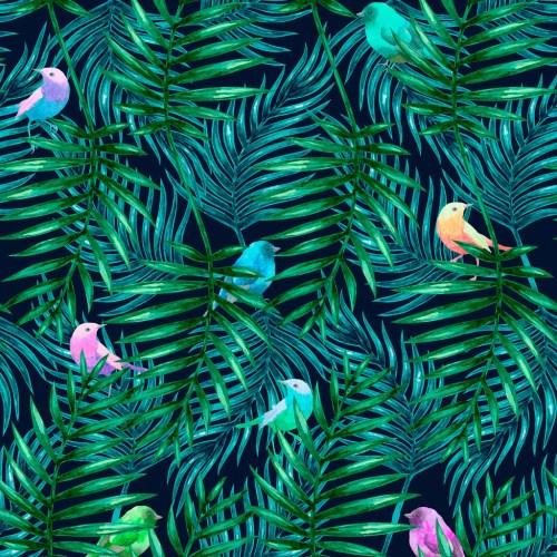 Medium Of Palm Leaves Wallpaper
