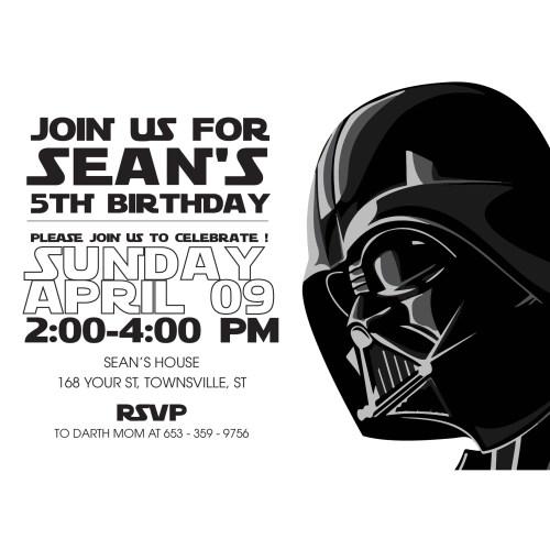 Medium Crop Of Star Wars Invitations