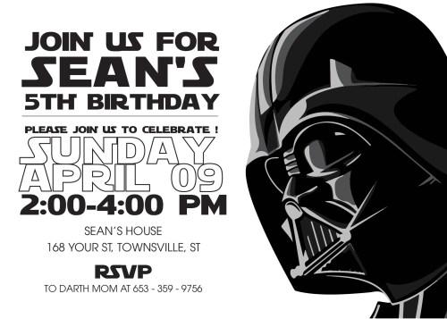 Medium Of Star Wars Invitations