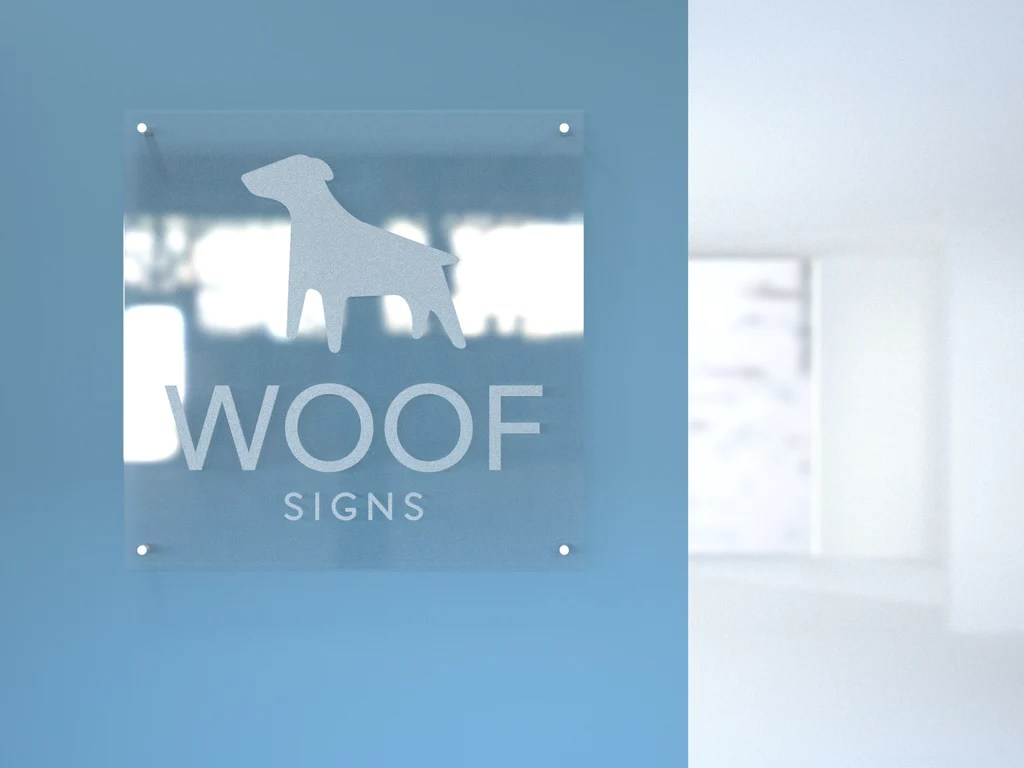 Custom Engraved Acrylic Sign   Woof Signs Acrylic Sign