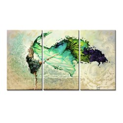 Engrossing Colorful Dancing Girl Piece Wall Art Colorful Dancing Girl Piece Wall Art Canvaswallart 3 Piece Wall Art Nature 3 Piece Wall Art Map