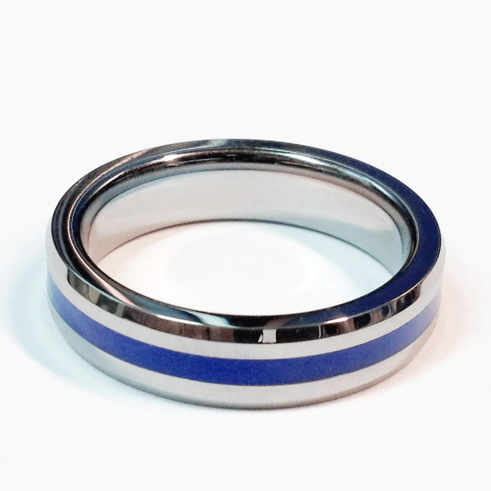 Smartly Tungsten Brorhood Band Thin Blue Line Ring Law Enforcement Thin Blue Line Tungsten Police Ring Brorhood Band Abrorhood Thin Blue Line Ring Meaning Thin Blue Line Ring Set bark post Thin Blue Line Ring