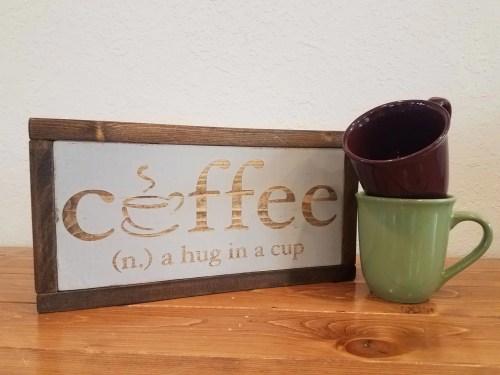 Medium Of Wood Coffee Cup