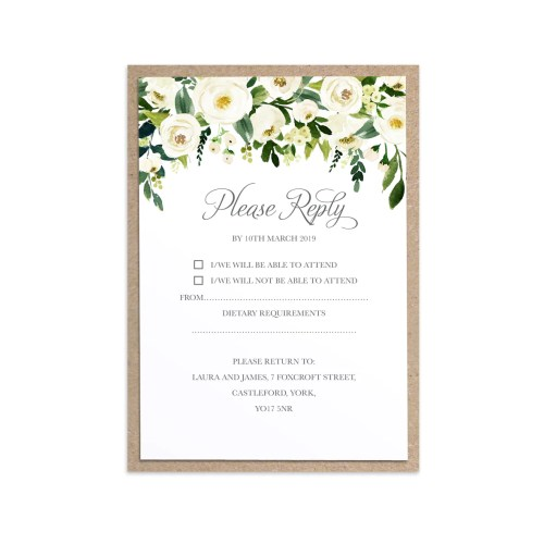 Medium Crop Of Wedding Rsvp Cards