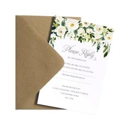 Grande Weddings Wedding Rsvp Floral Wedding Rsvp Floral Peony Rsvp Card Wedding Website Cheap Rsvp Cards