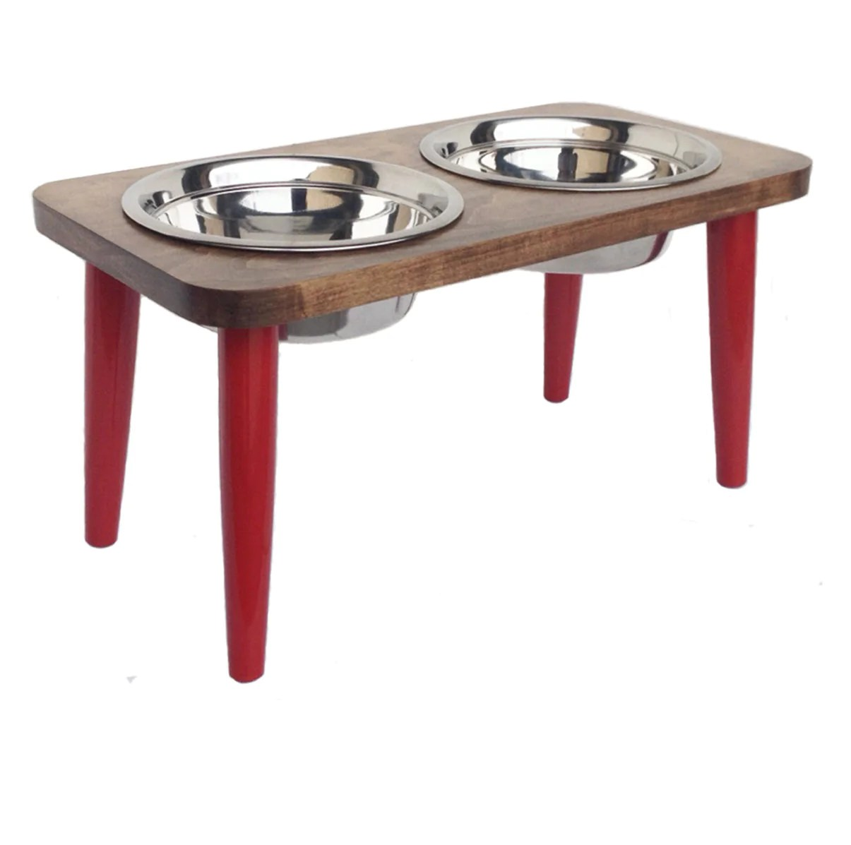 Arresting Nmn Designs Elevated Dog Bowl Stand Raised Hardwood Red Sourn Maple Diner Elevated Dog Bowls Pets S Nmn Elevated Dog Bowls Elevated Dog Bowls Pottery Barn houzz-03 Elevated Dog Bowls