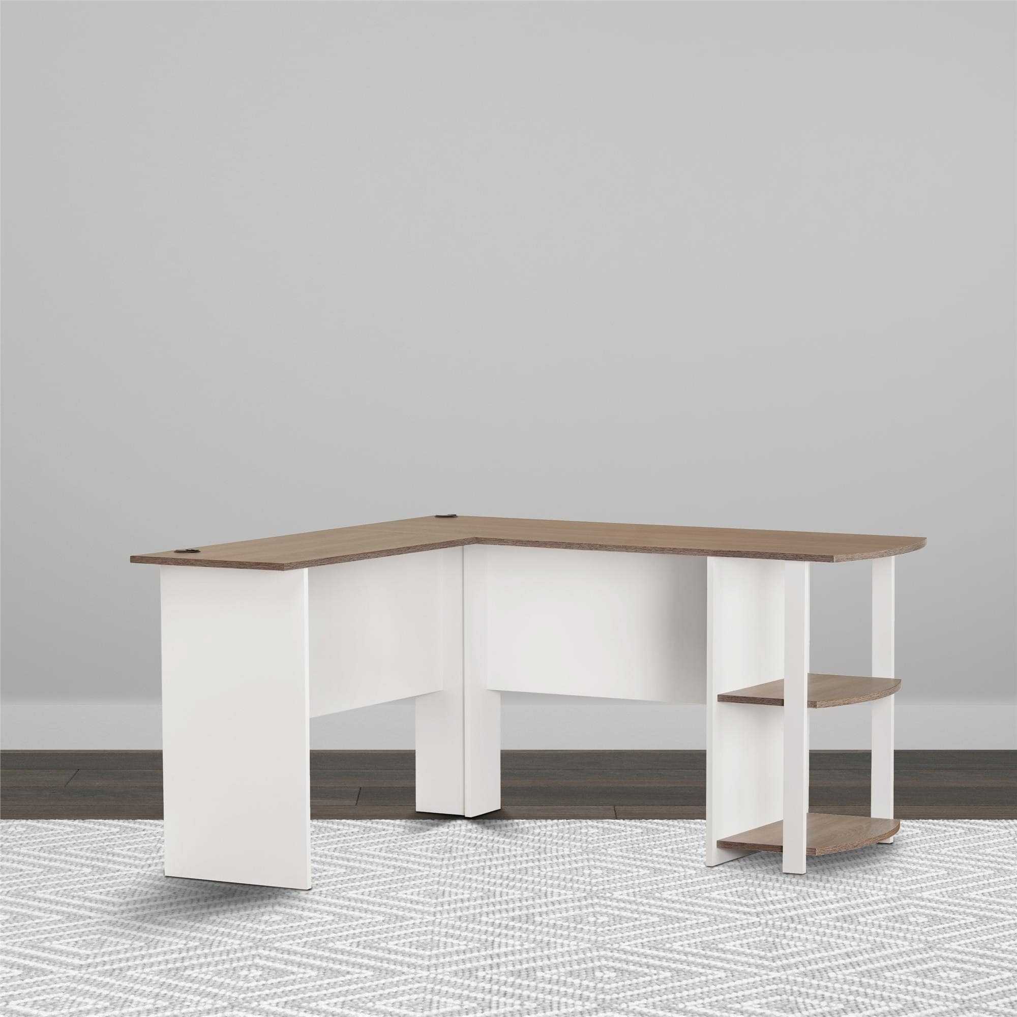 Fullsize Of White L Shaped Desk