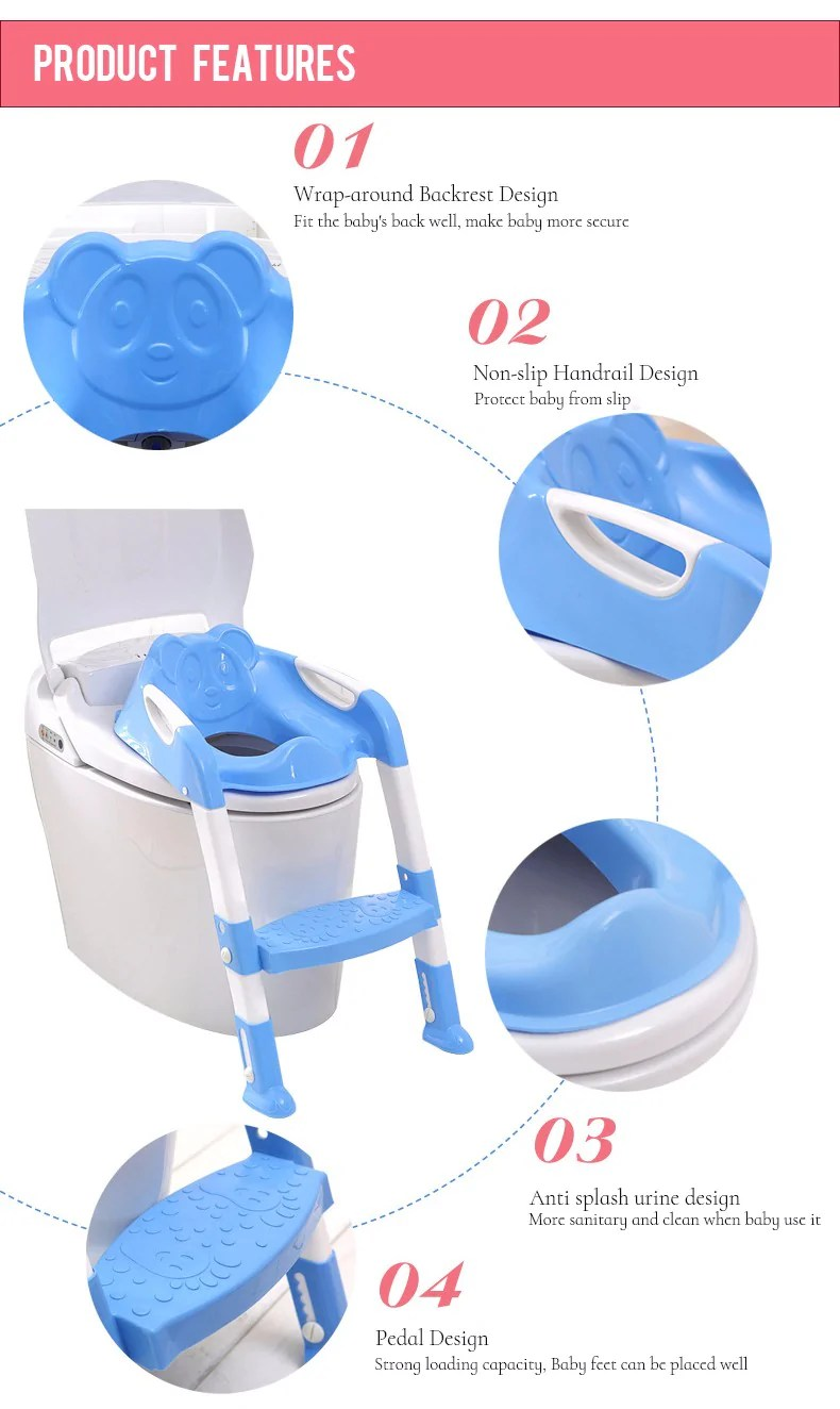 Pretty Colors Baby Potty Training Seat Potty Baby Toilet Seat Withadjustable Ladder Infant Toilet Colors Baby Potty Training Seat Potty Baby Toilet Seat Potty Training Toilet Covers Potty Training Toi baby Potty Training Toilet