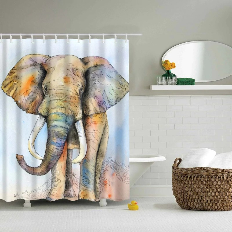Large Of Elephant Shower Curtain