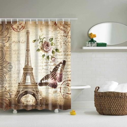 Ideal Beyond Butterfly Shower Curtain 1200x1200 Butterfly Shower Curtain Pottery Barn Butterfly Shower Curtain Bed Bath Vintage Paris Eiffel Tower