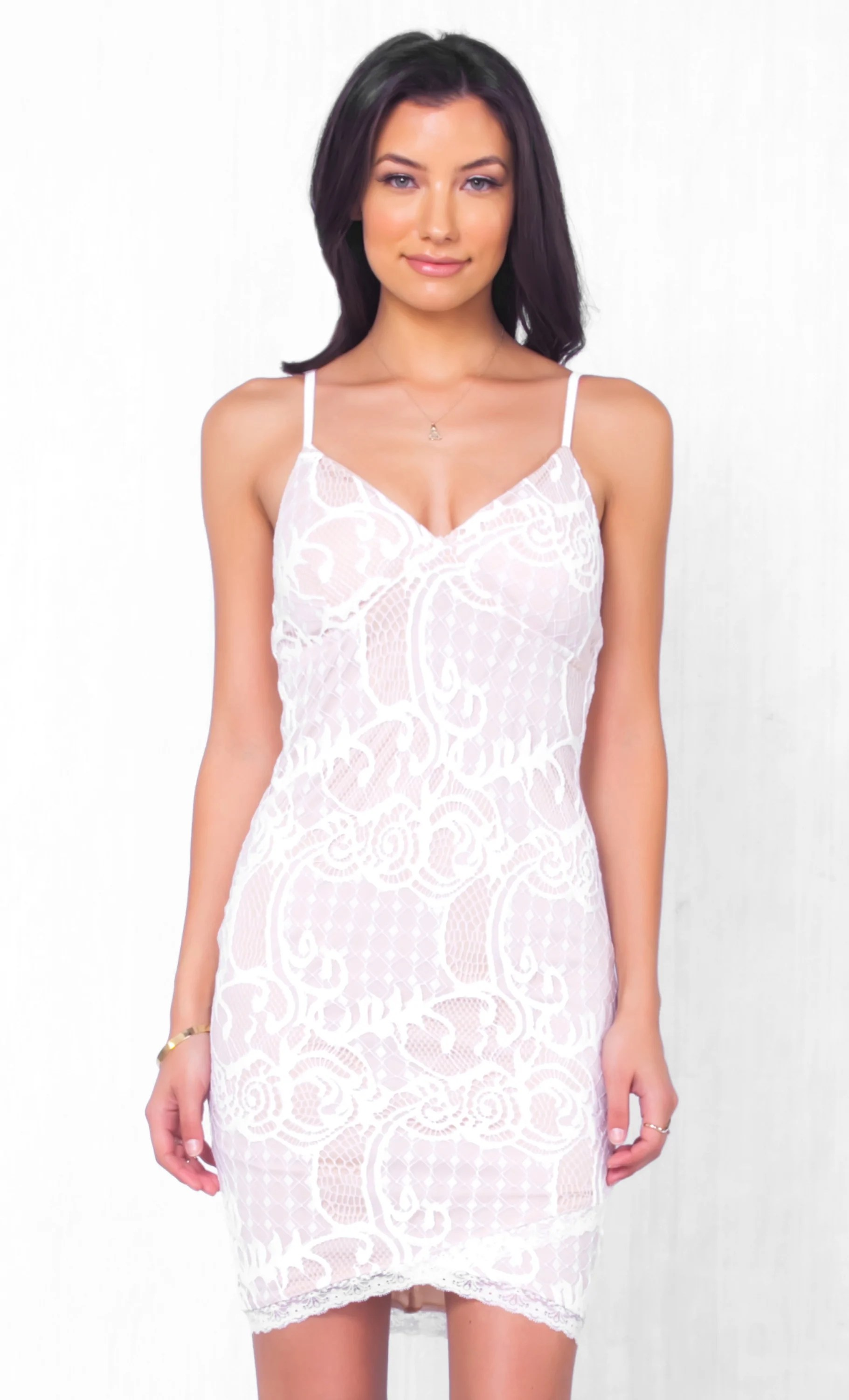 Indoor Toddlers Indie Indie Xo Will You Still Love Me Lace Sleeveless Spaghetti Strap Lace Dresses Midi Lace Dresses wedding dress White Lace Dresses