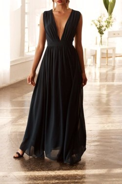 Small Of Plunging Neckline Dress