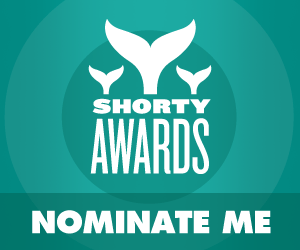 Nominate Leander for a social media award in the Shorty Awards!