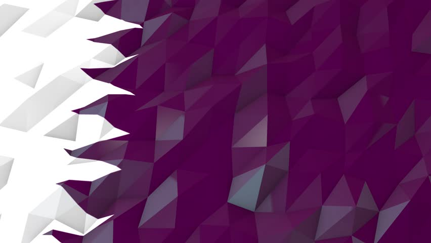 Flag Of Qatar Background Seamless Loop Animation Stock Footage Video 6311186 - Shutterstock