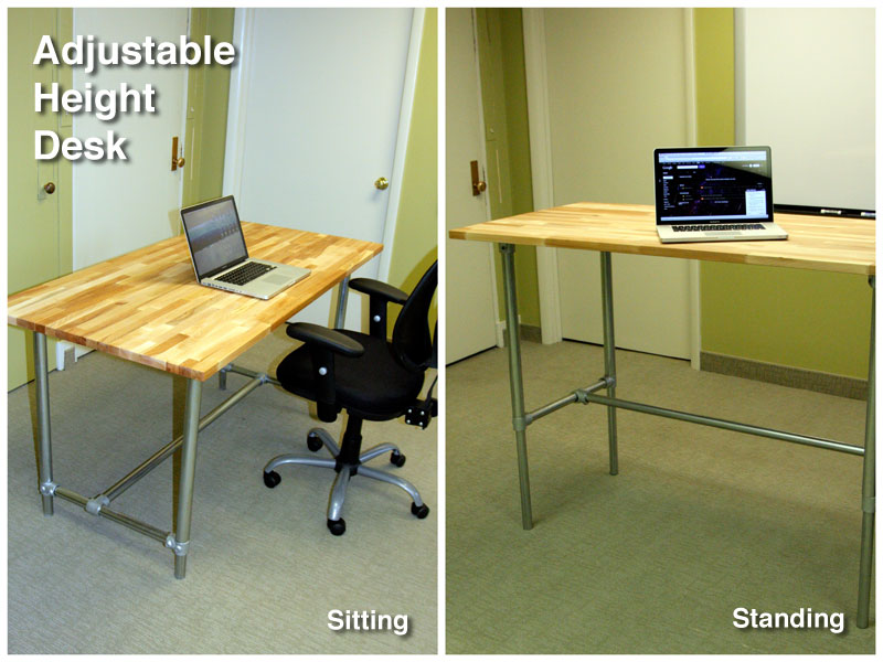 Simple Adjustable Height Desk Ikea Adjule Sitting And Standing For Decorating