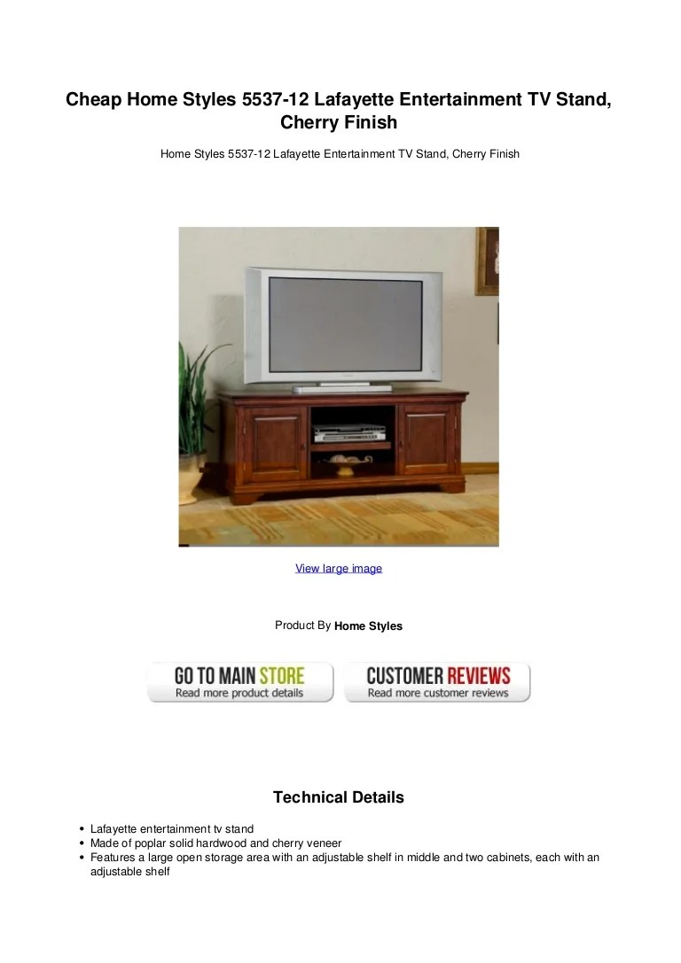 Cheap home styles 5537 12 lafayette entertainment tv stand cherry fin…