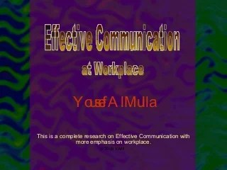 Communication at workplace