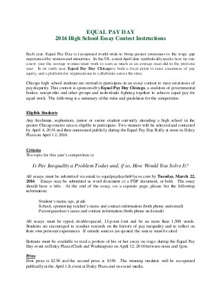 Equal pay day essay contest 2016