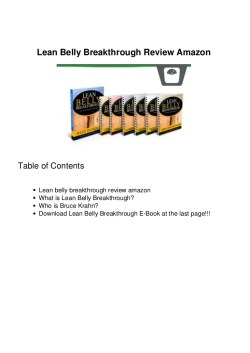 Small Of Lean Belly Breakthrough Reviews