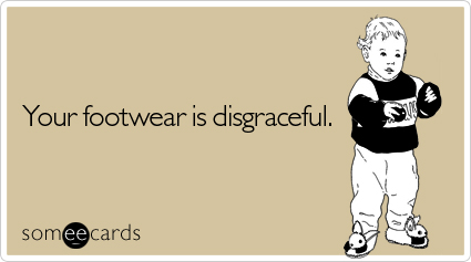 footwear reminders ecard someecards The Black Cat 10 Miler and Traveling for a Race