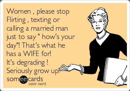 girl flirting a married man