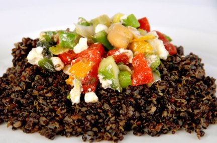 Photo of Quinoa with Vegetables and Feta courtesy of Red Mountain Resort