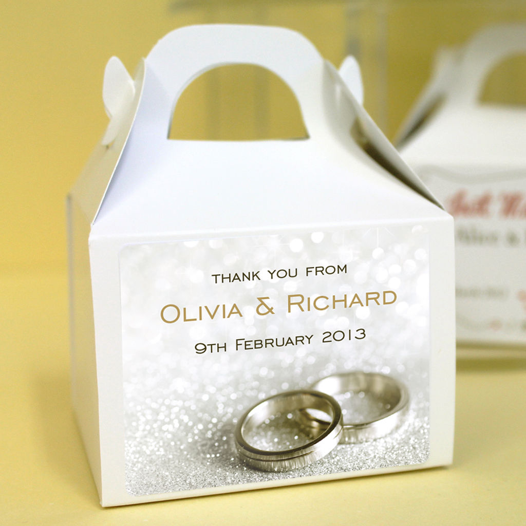 personalised wedding favour boxes wedding rings wedding favor boxes