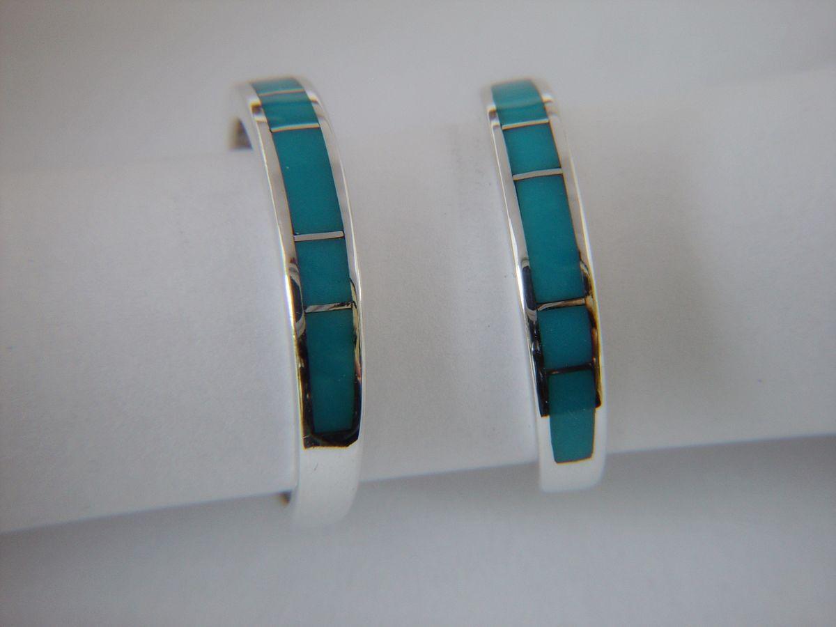 wedding ring designs navajo wedding rings Sleeping Beauty Inlaid into Sterling Silver Rings Sleeping Beauty