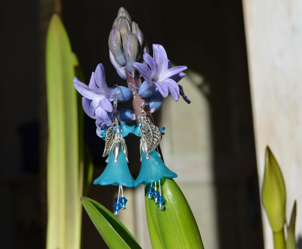 Hilarious Swarovski Crystals Blue Fairy Swarovski Crystals Blue Fairy Jewelry Earrings Boho Elven Jewelry Mori Girl Forest Bluebell Flower Earrings Bluebell Flower Earrings houzz-03 Blue Bell Flower