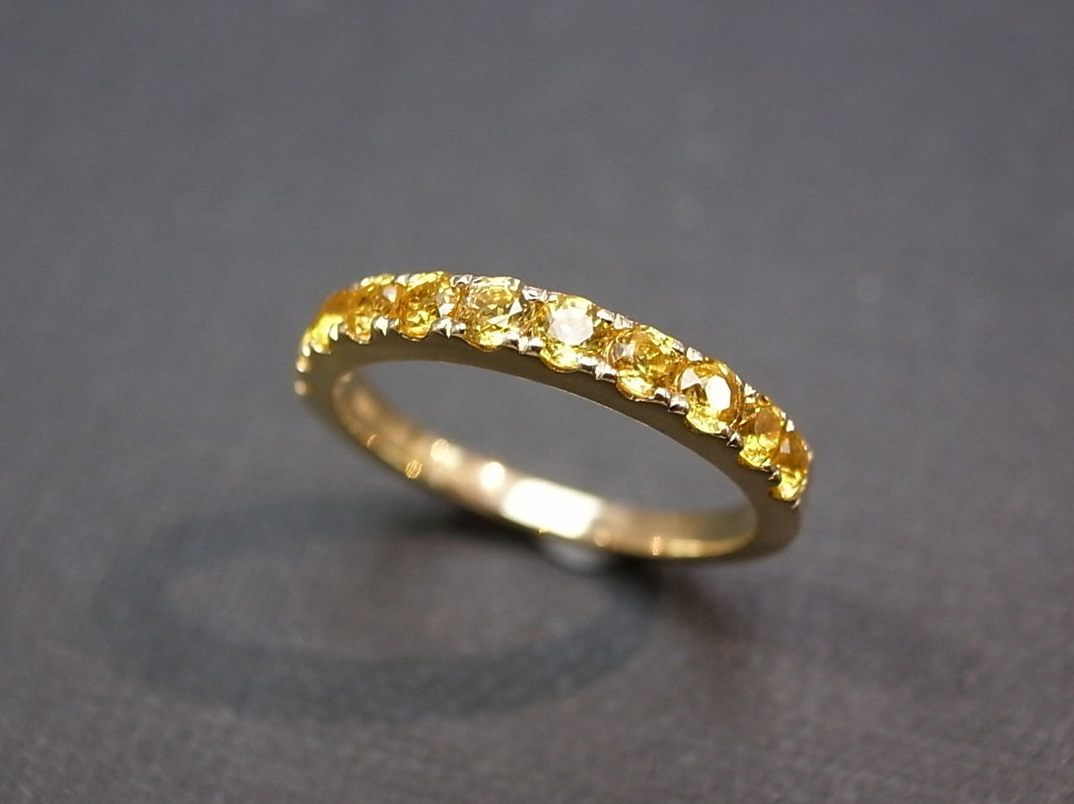 yellow sapphire wedding ring in 14k yellow gold 2 sapphire wedding band Yellow Sapphire Wedding Ring