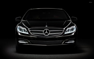 Black Mercedes-Benz in the darkness wallpaper - Car wallpapers - #52170