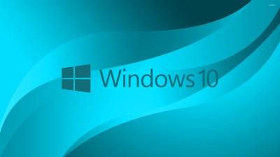 Windows 10 blue text logo on light blue wallpaper - Computer wallpapers - #45654