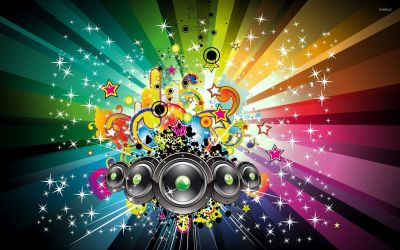 Magic of the music wallpaper - Vector wallpapers - #52443