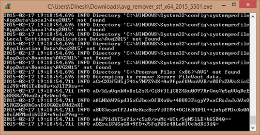 running avg removal tool in Windows 8.1