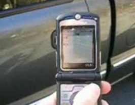 Unlock car with cell phone sms