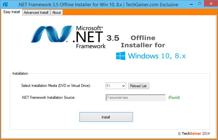 Dot NET Framework 3.4 Offline Installer Screenshot