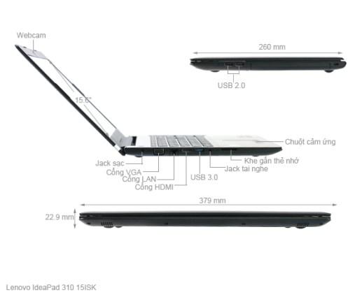 LENOVO IdeaPad 310: Core i5 6200u/4G/500G/15.6in/2VGA 2G, còn BH 5th ! - 2