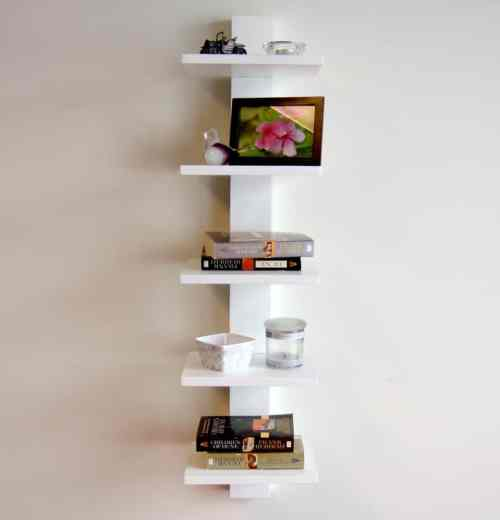 Medium Of On Wall Bookshelf