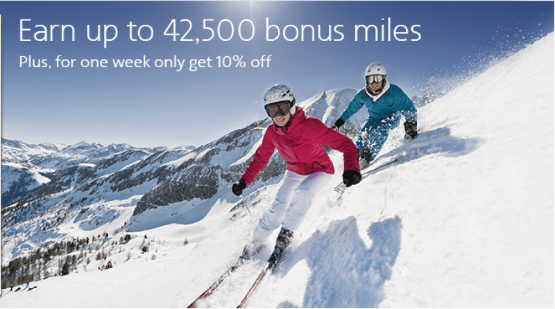 Use this buy miles promotion to hit the slopes—whether it's in Colorado or the Alps!