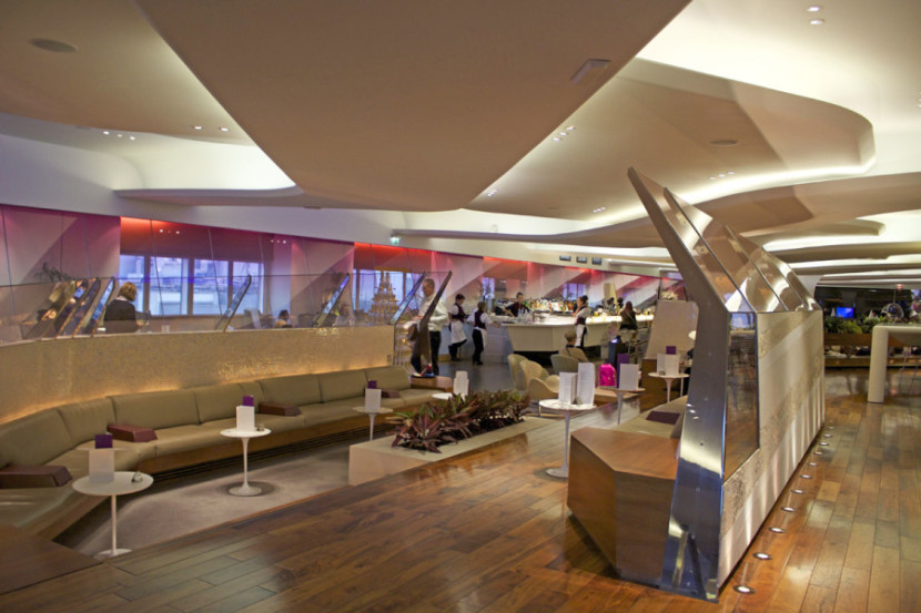Virgin Atlantic's LHR Clubhouse is one of the sexiest lounges out there.