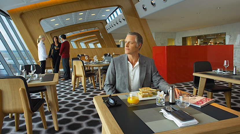 Qantas's flagship first-class lounge in Sydney was designed by Marc Newson and has a Neil Perry restaurant.