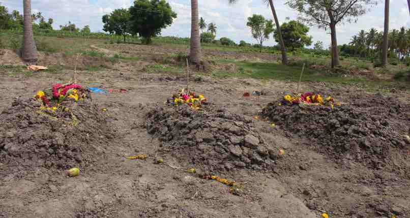 Where those hacked to death have been buried. Credit: Jeya Rani