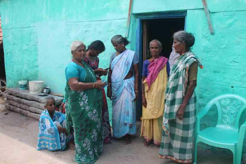 Women in Kachanatham. Credit: Jeya Rani