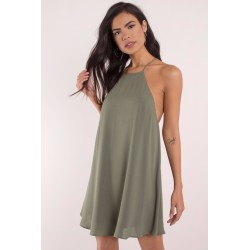 Small Crop Of Olive Green Dress